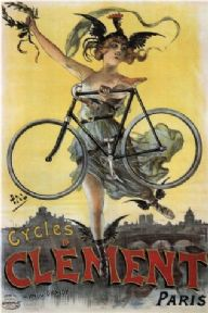 Vintage French bicycles poster - Clement cycles